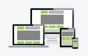 an example of a responsive website across different devices