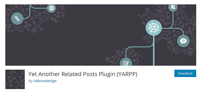 screenshot of the YARPP plugin